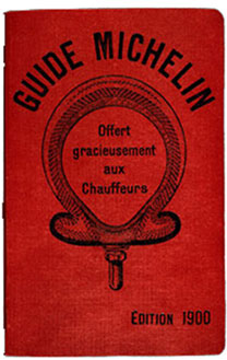 The very first Michelin guide was published in 1900
